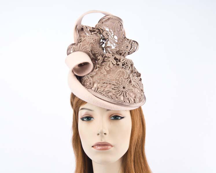 Nude winter felt fascinator