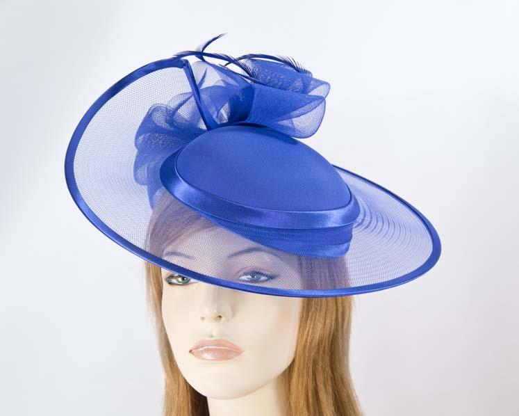Cobalt blue mother of the bride hat