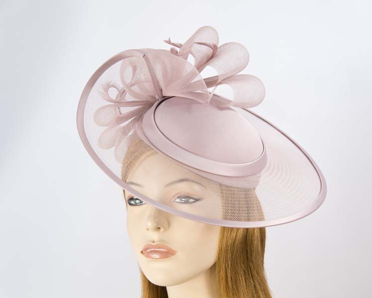Tea rose mother of the bride hat