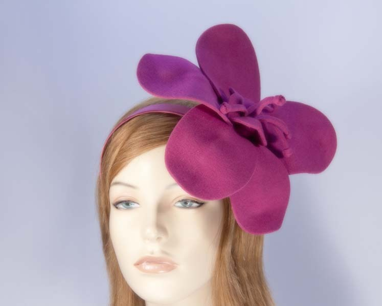 Fuchsia felt flower fascinator