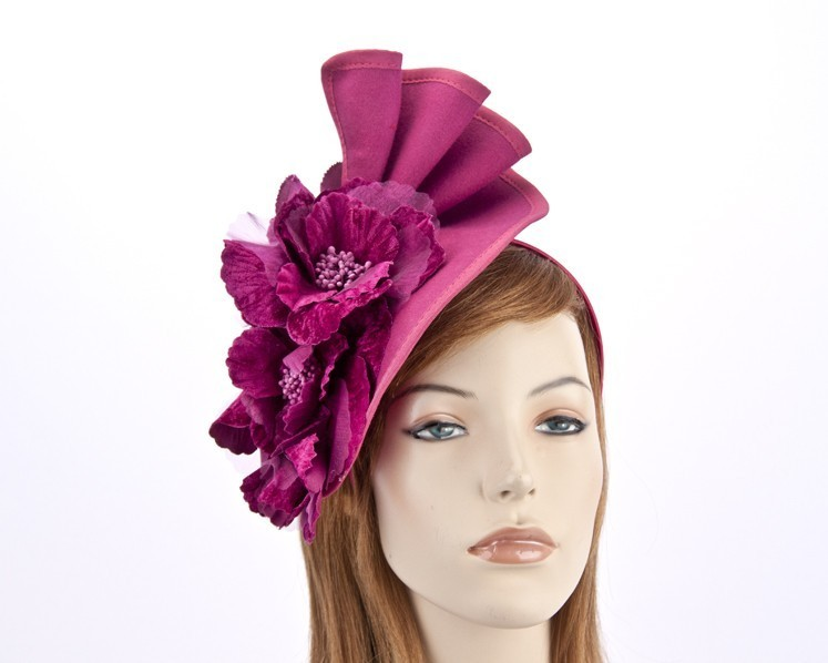 Fuchsia felt fascinator