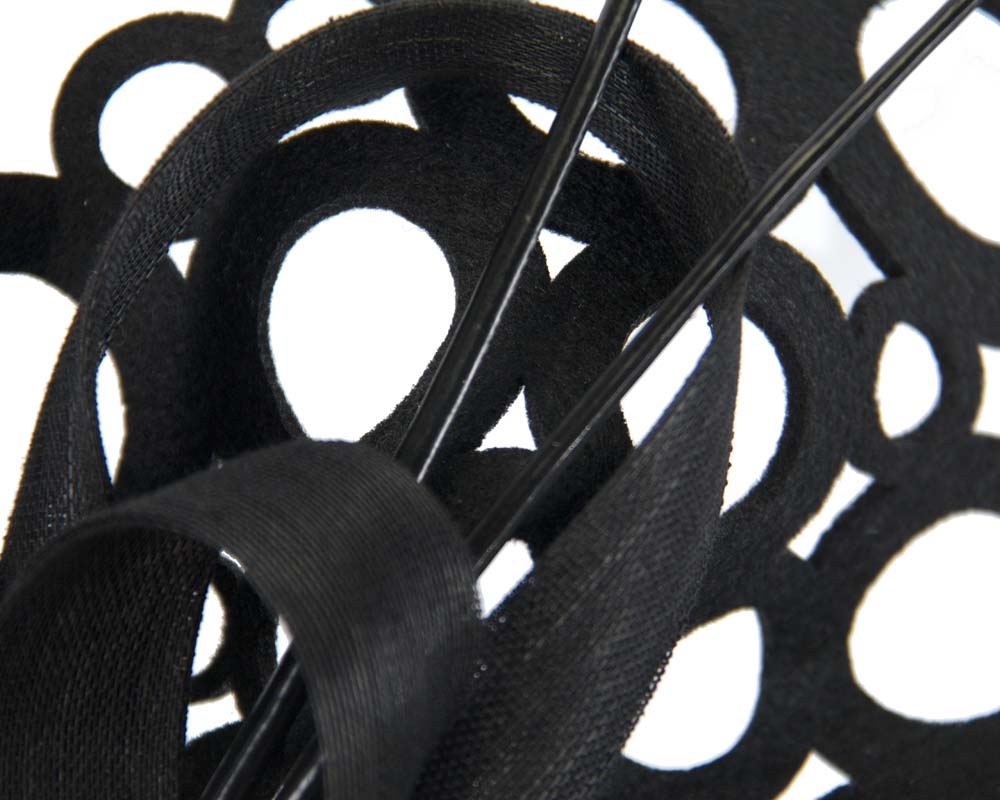 Black laser-cut fascinator