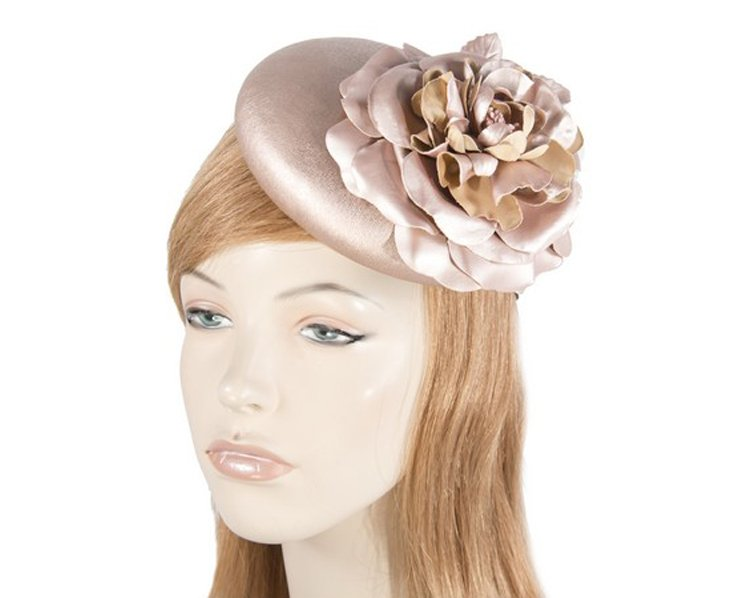 Rose Gold leather pillbox fascinator J333RG ce750a1c26a