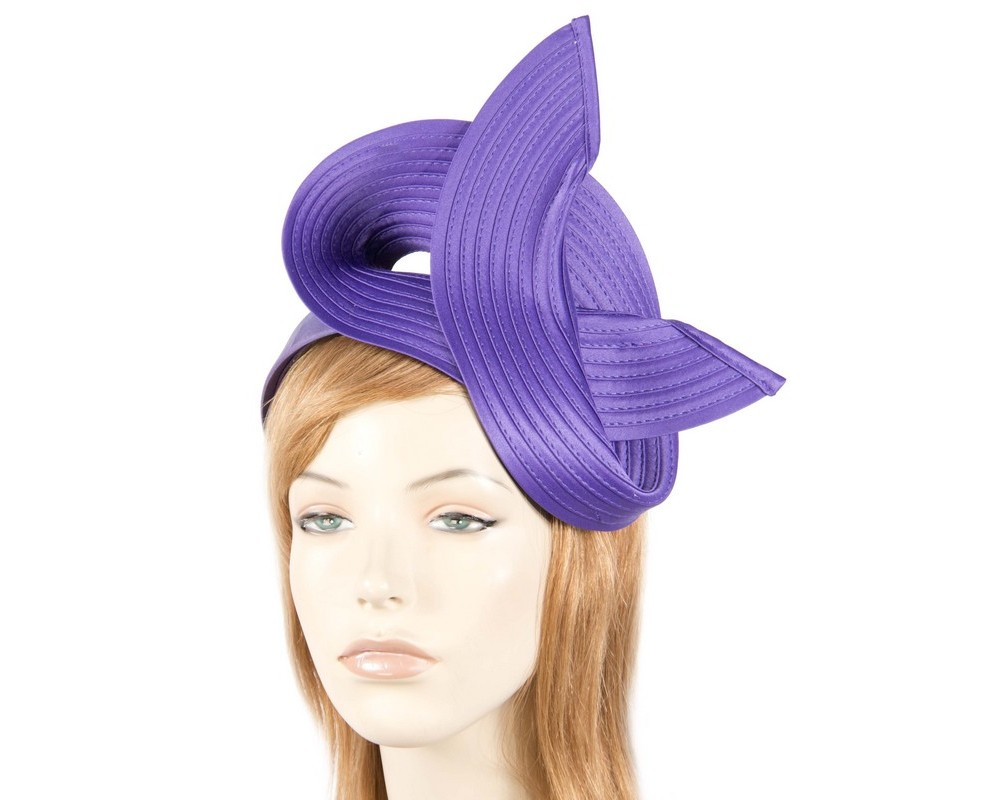 Purple racing fascinator by Max Alexander