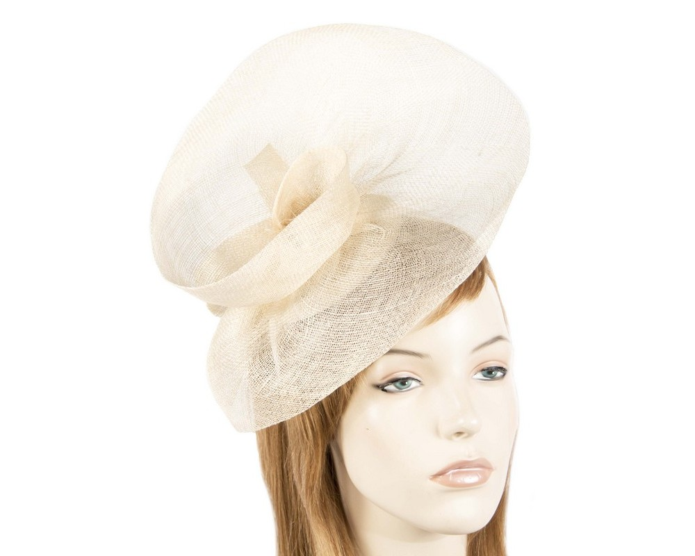 Cream racing fascinator by Max Alexander