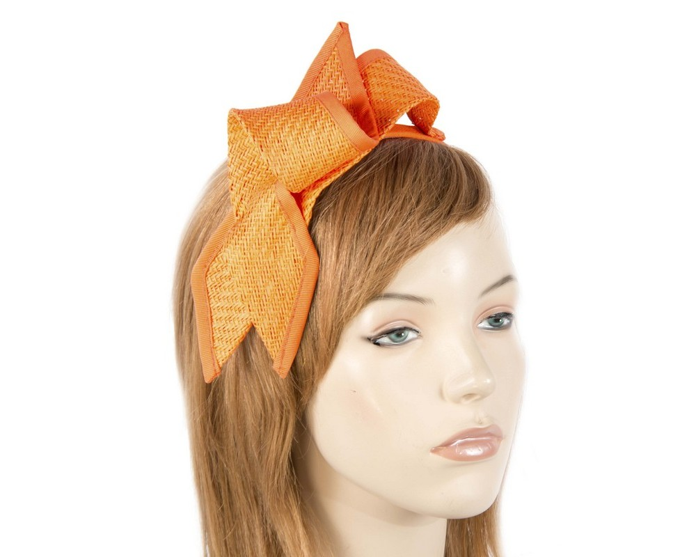 Orange racing bow fascinator by Max Alexander