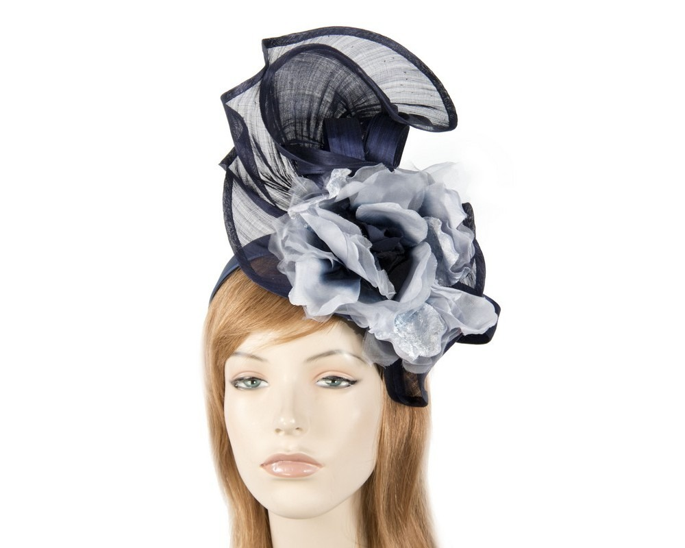 Navy racing fascinator by Fillies Collection