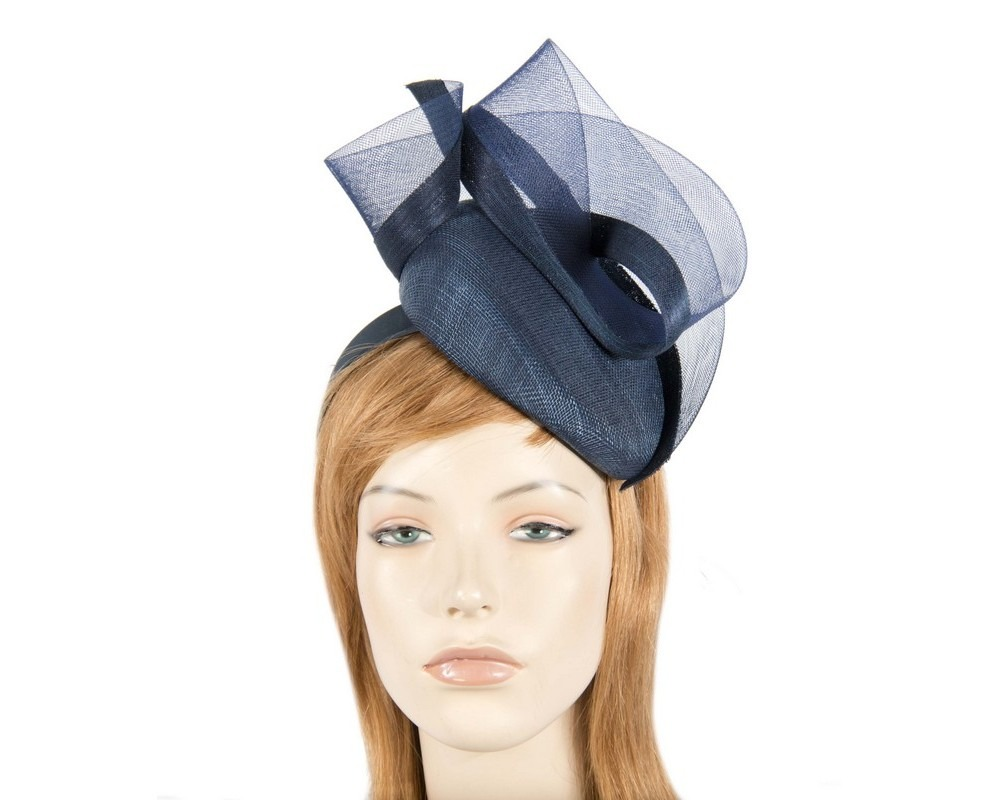 Navy racing fascinator