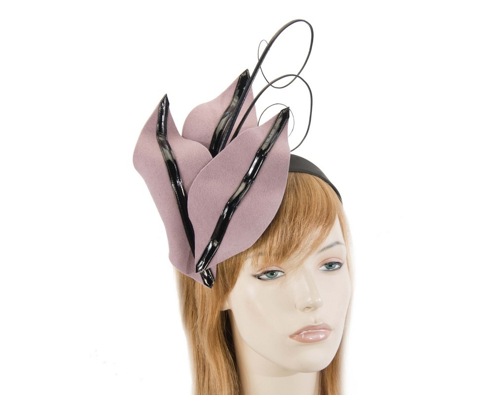Dusty pink winter felt fascinator