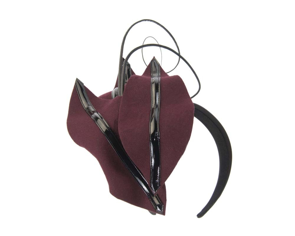 Burgundy wine winter felt fascinator