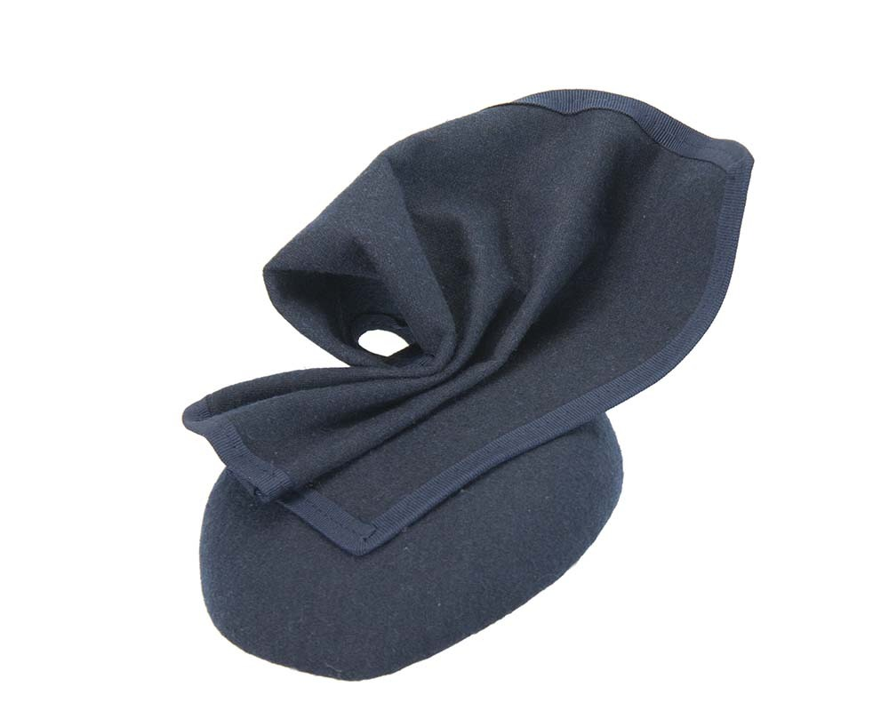 Fascinators Online - Navy winter racing pillbox 2