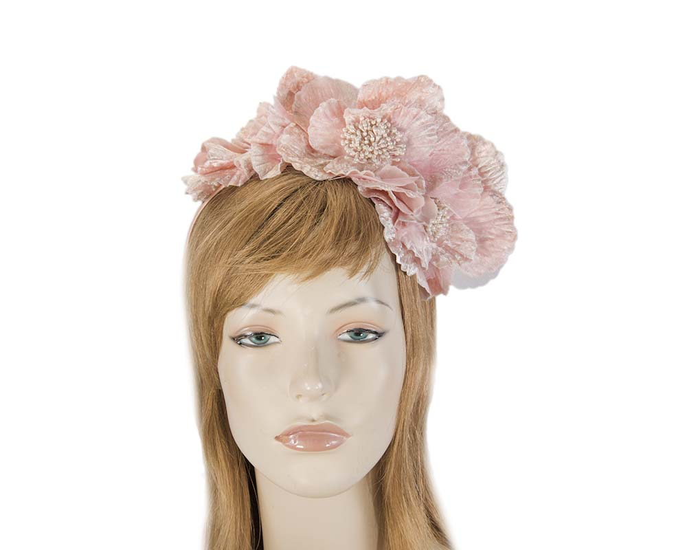 Fascinators Online - Pink flowers on the headband 9