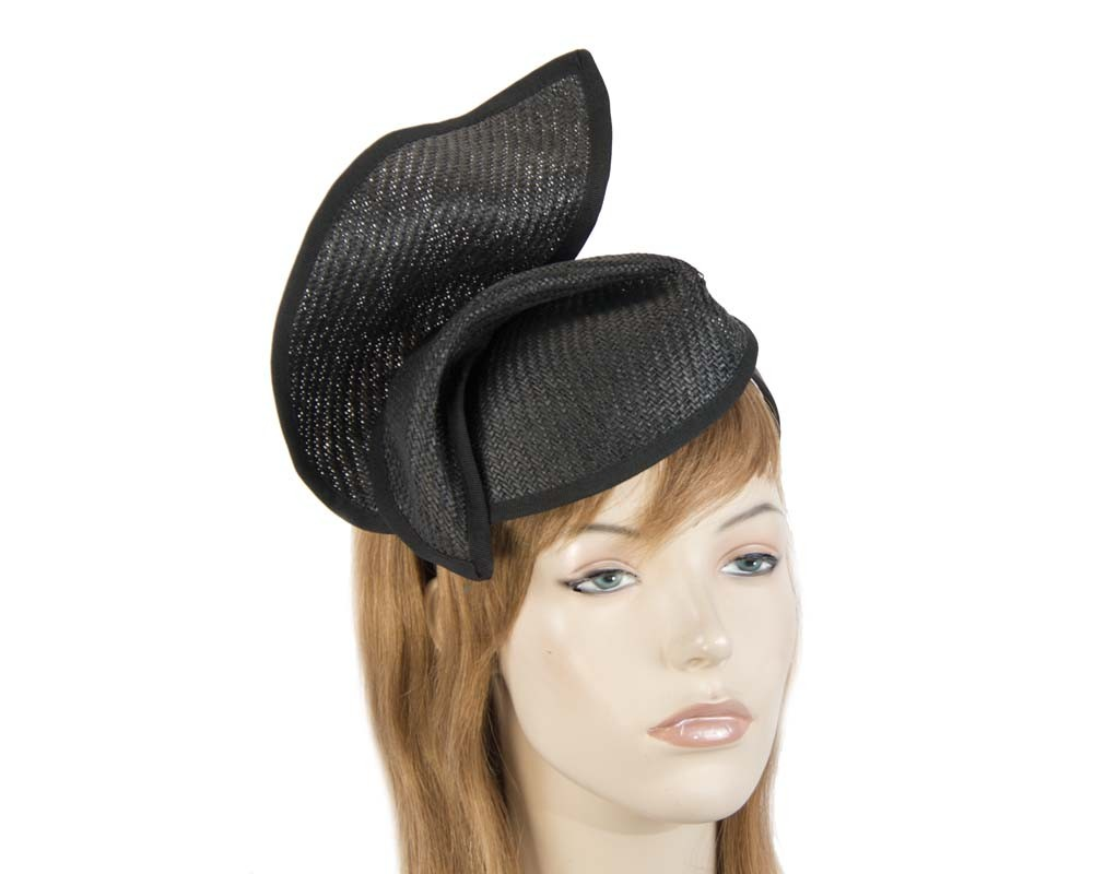 Fascinators Online - Black twisted fascinator by Max Alexander 6