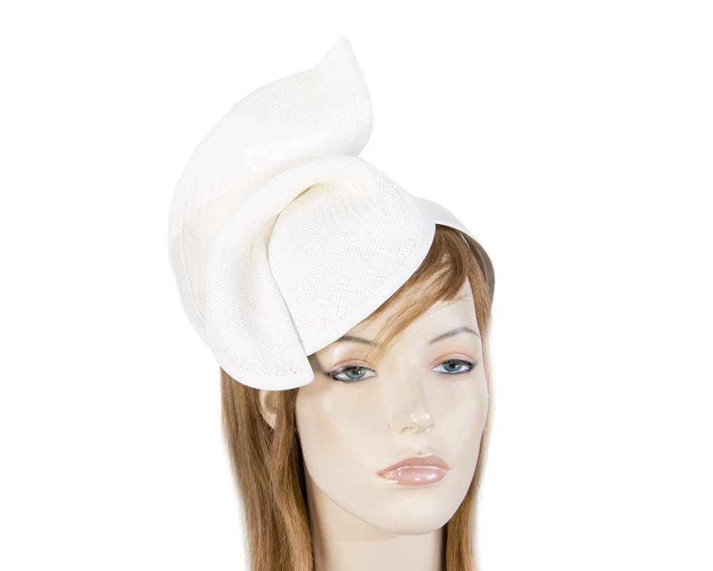 Fascinators Online - White twisted fascinator by Max Alexander 2