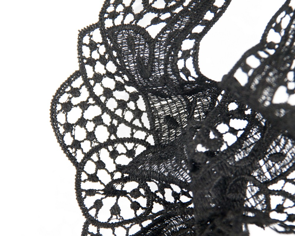 Fascinators Online - Black lace butterfly fascinator 3