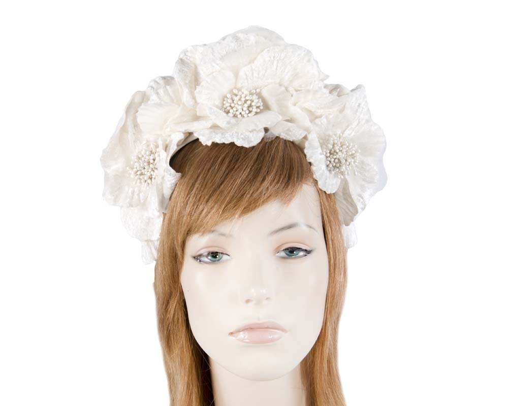 Fascinators Online - Cream flower halo 25