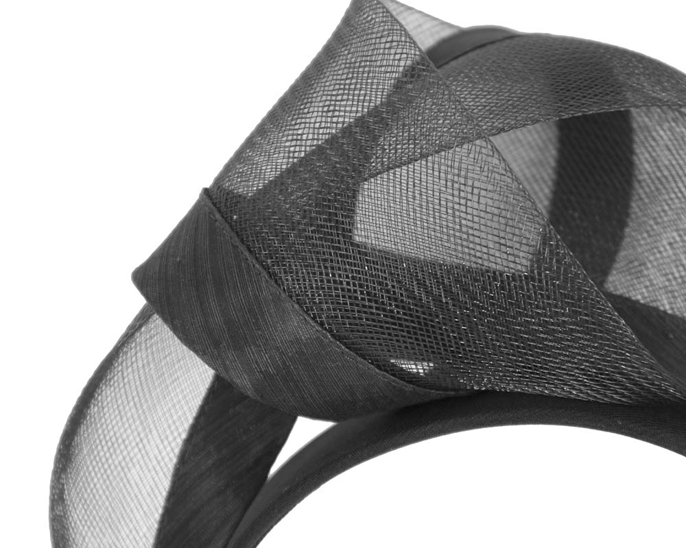 Fascinators Online - Black turban headband by Fillies Collection 3