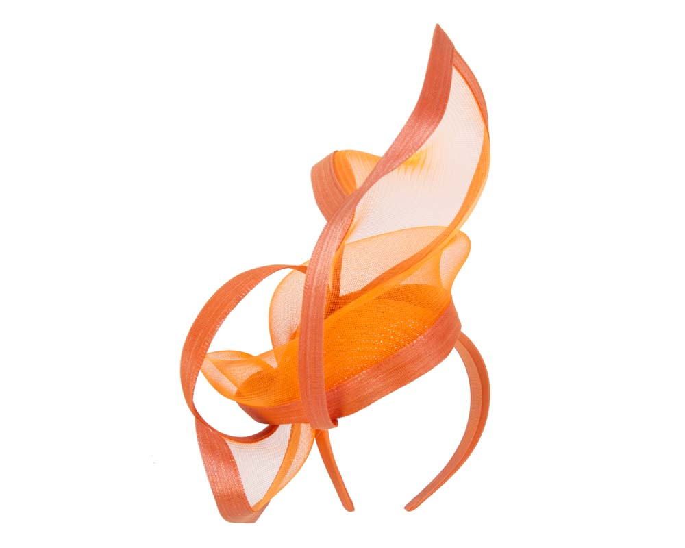 Fascinators Online - Edgy orange fascinator by Fillies Collection 5