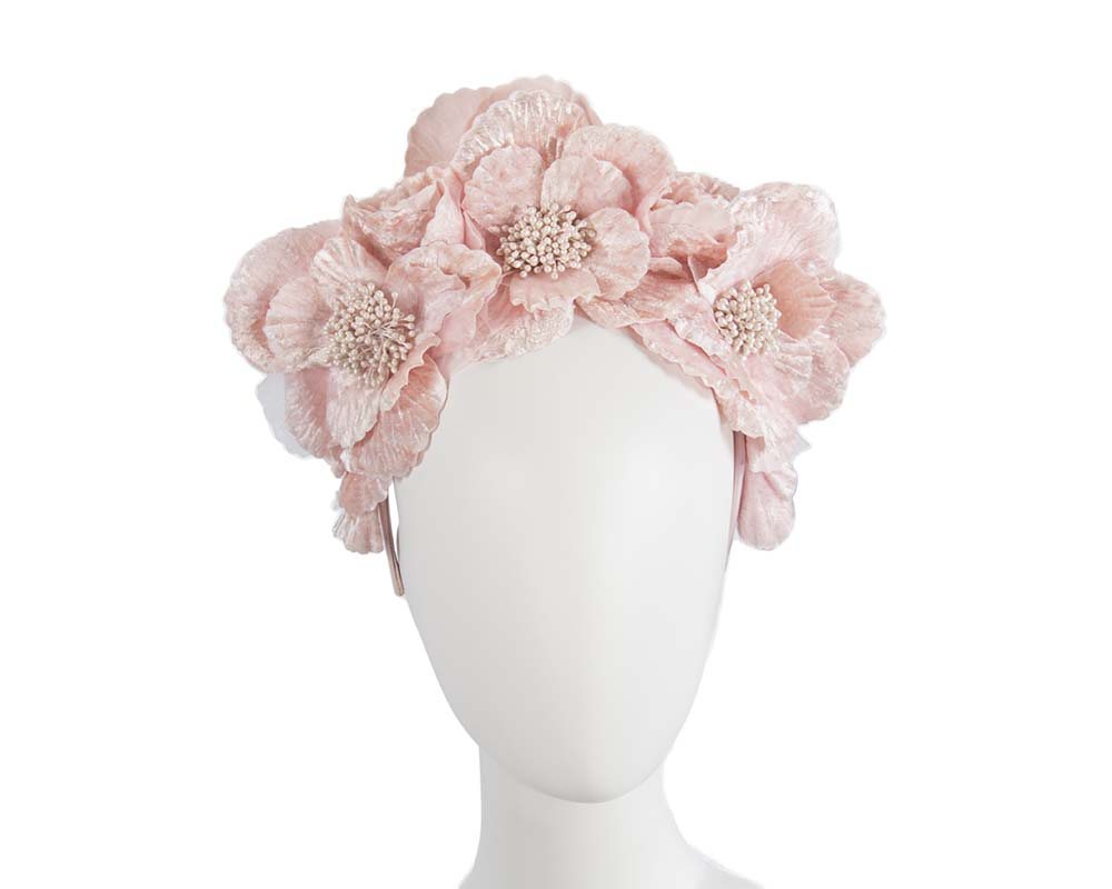 Fascinators Online - Pink flower halo by Fillies Collection 17