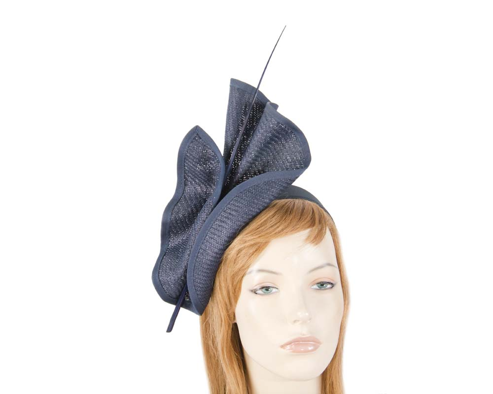 Fascinators Online - Modern Navy racing fascinator by Max Alexander 4