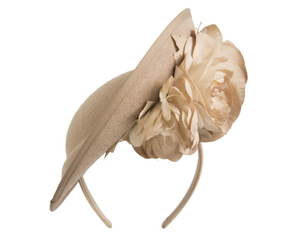 Fascinators Online - Large beige plate with flowers by Fillies Collection 3