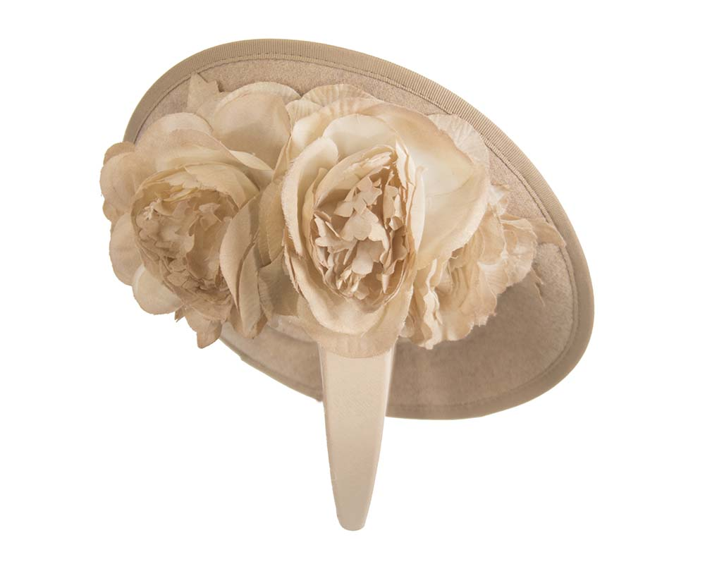 Fascinators Online - Large beige plate with flowers by Fillies Collection 4