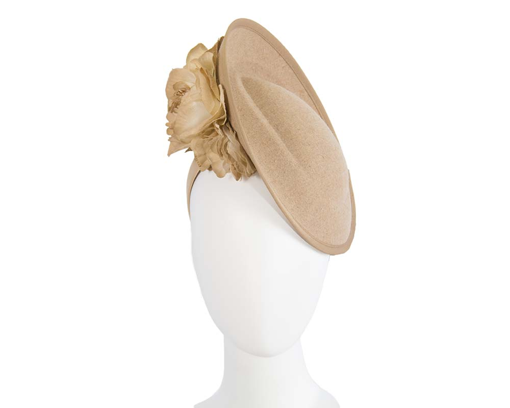 Fascinators Online - Large beige plate with flowers by Fillies Collection 1