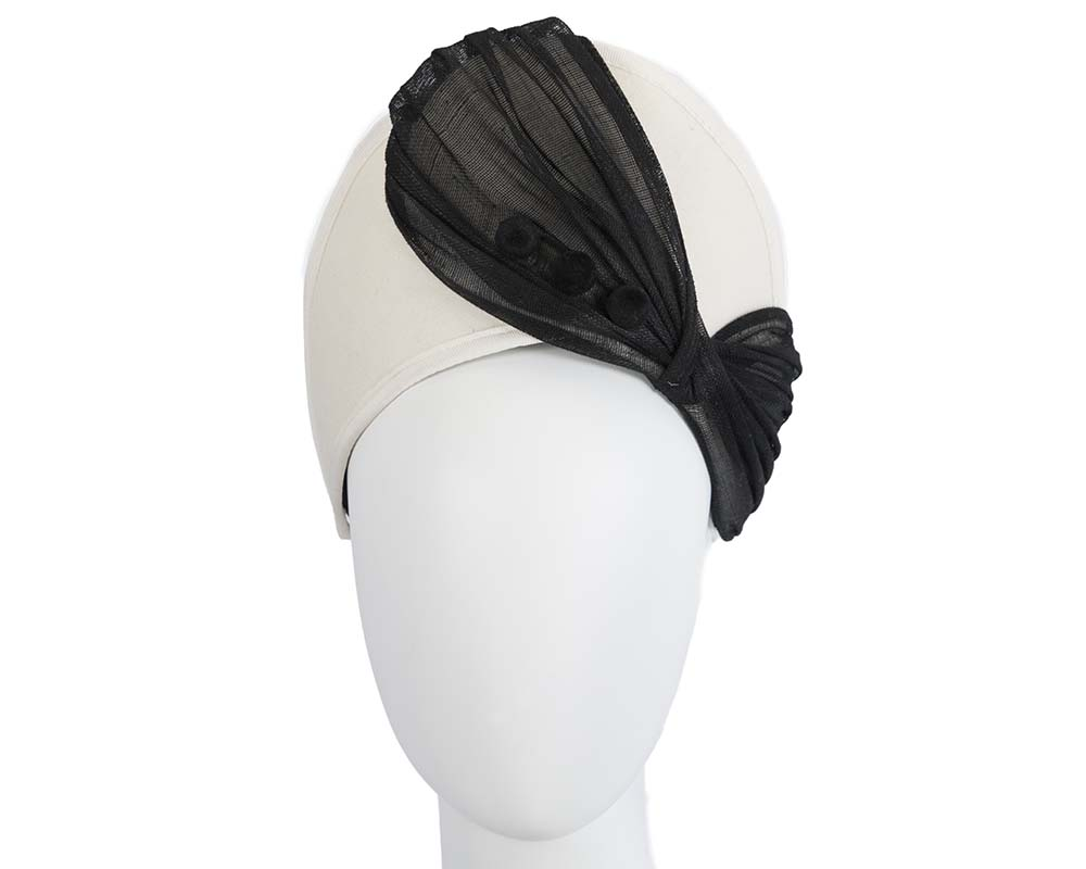 Fascinators Online - Cream & black felt crown fascinator by Fillies Collection 6