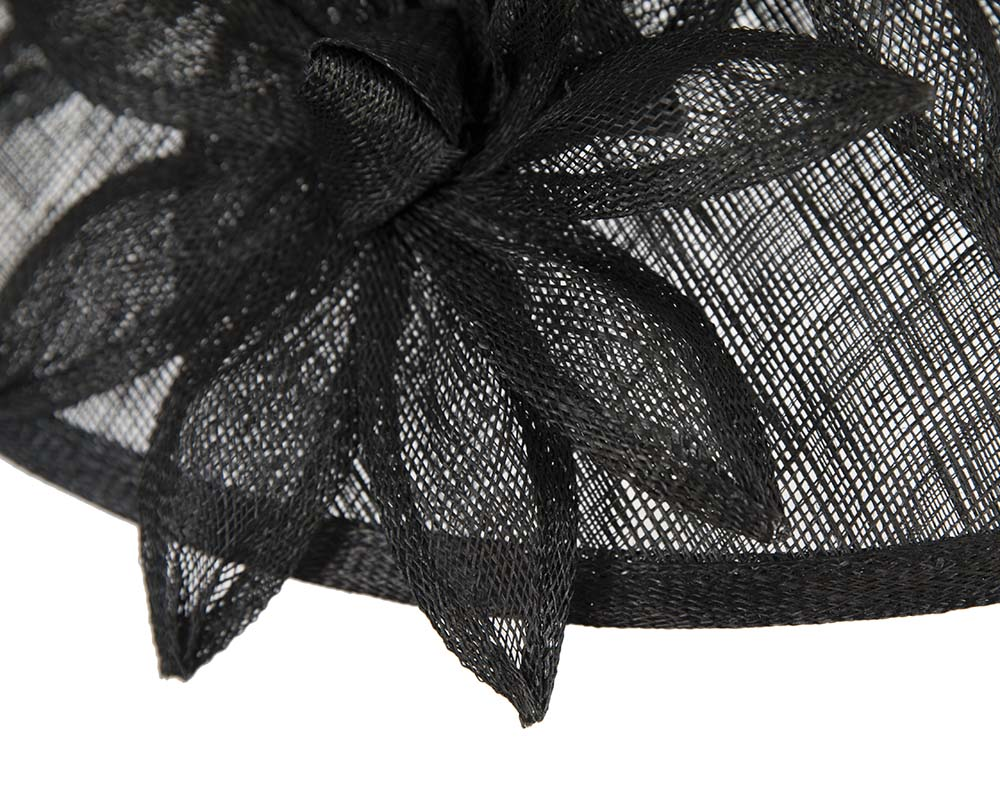 Fascinators Online - Large traditional black racing hat by Max Alexander 5