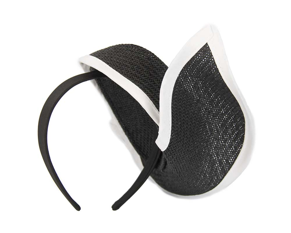Fascinators Online - Black & white twisted fascinator by Max Alexander 4