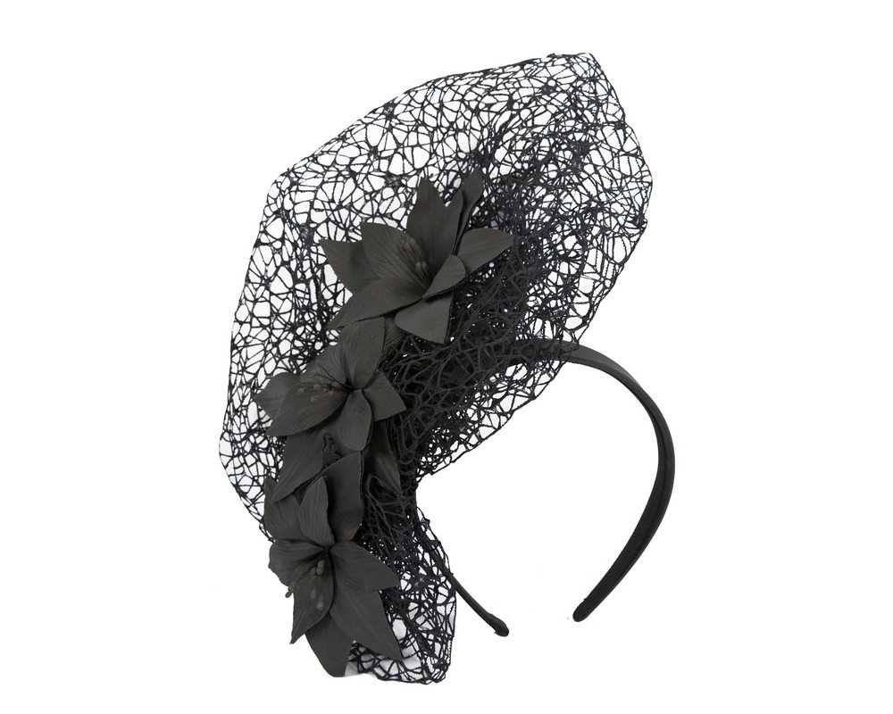 Fascinators Online - Black designers racing fascinator by Fillies Collection 2