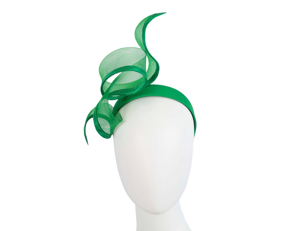 Fascinators Online - Twisted green racing fascinator by Fillies Collection 1